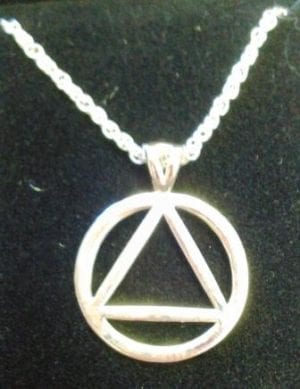 Circle Triangle Silver Necklace