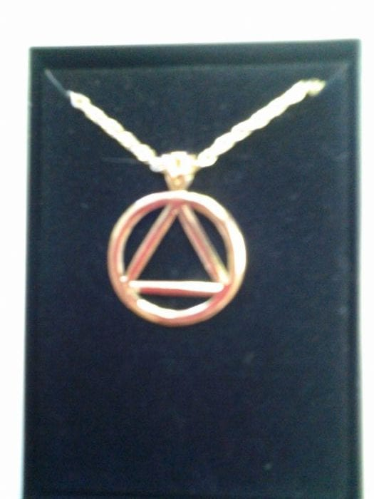 Circle Triangle Gold Plated Necklace