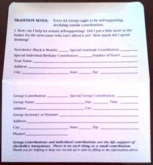 Contribution Envelope