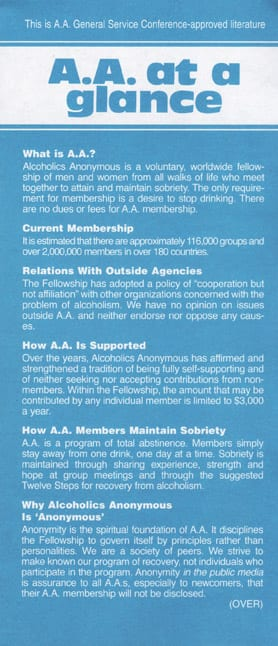 AA at a Glance