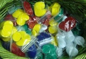 Plastic Poker Chip Medallions